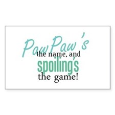 PawPaw's the Name! Rectangle Decal