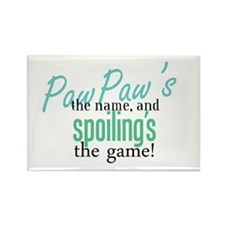 PawPaw's the Name! Rectangle Magnet