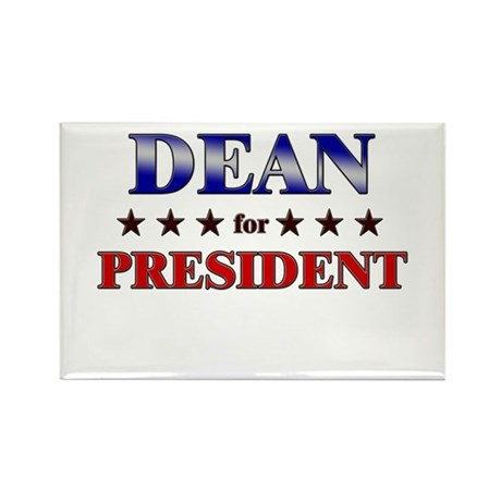 DEAN for president Rectangle Magnet