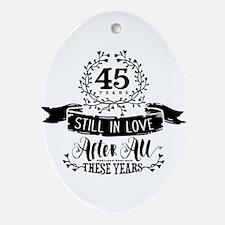 45th Anniversary Oval Ornament