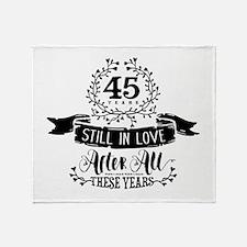 45th Anniversary Throw Blanket