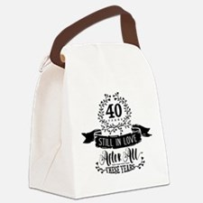 40th Anniversary Canvas Lunch Bag