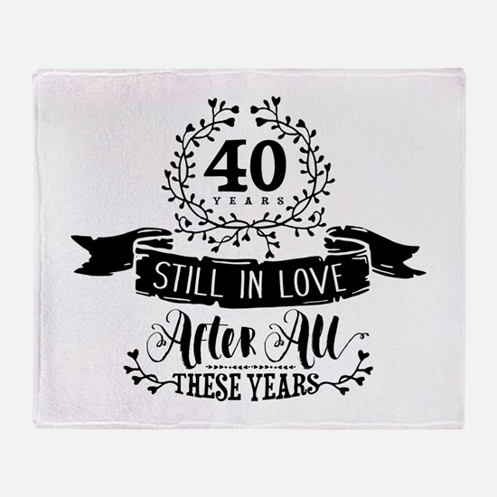 40th Anniversary Throw Blanket