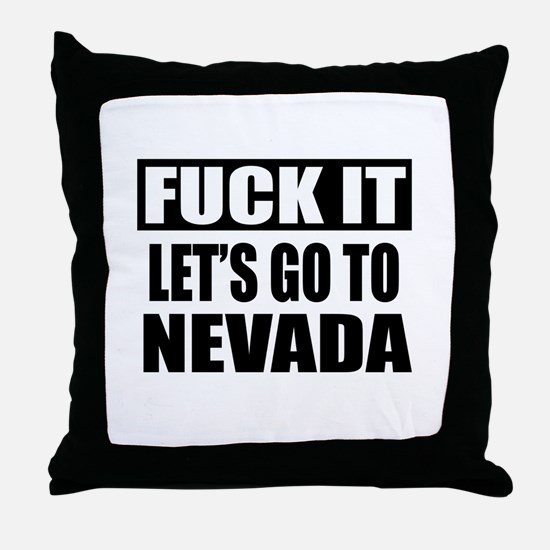 Let's Go To Nevada Throw Pillow
