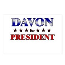DAVON for president Postcards (Package of 8)