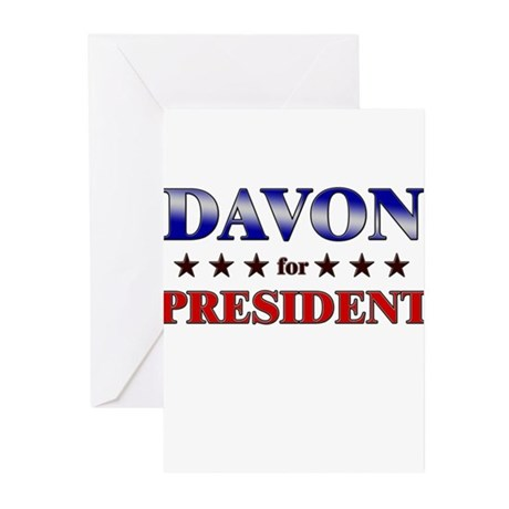 DAVON for president Greeting Cards (Pk of 20)