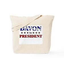 DAVON for president Tote Bag