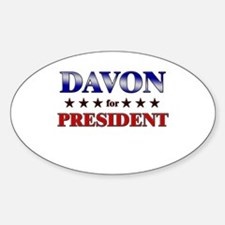 DAVON for president Oval Decal