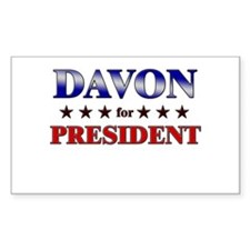 DAVON for president Rectangle Decal