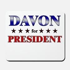 DAVON for president Mousepad