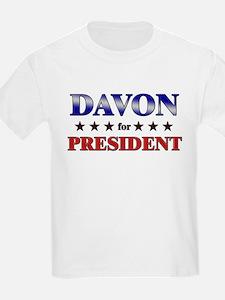 DAVON for president T-Shirt