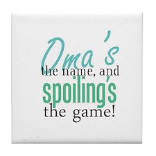 Oma's the Name! Tile Coaster