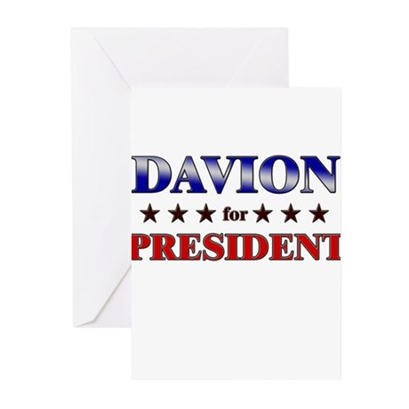 DAVION for president Greeting Cards (Pk of 20)