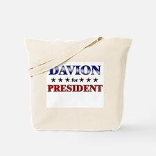 DAVION for president Tote Bag