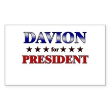 DAVION for president Rectangle Decal