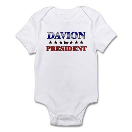 DAVION for president Infant Bodysuit
