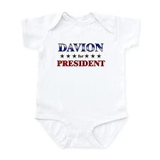 DAVION for president Infant Bodysuit