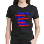 Anti-Republican Women's Dark T-Shirt