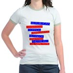 Anti-Republican Jr. Ringer T-Shirt