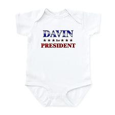 DAVIN for president Onesie