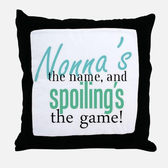 Nonna's the Name! Throw Pillow