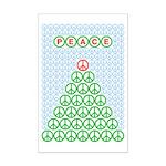 Peace Christmas Tree Mini Poster Print