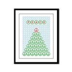Peace Christmas Tree Framed Panel Print