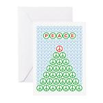 Peace Christmas Tree Greeting Cards (Pk of 10)