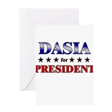 DASIA for president Greeting Card