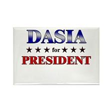 DASIA for president Rectangle Magnet