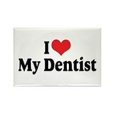I Love My Dentist Rectangle Magnet (10 pack)