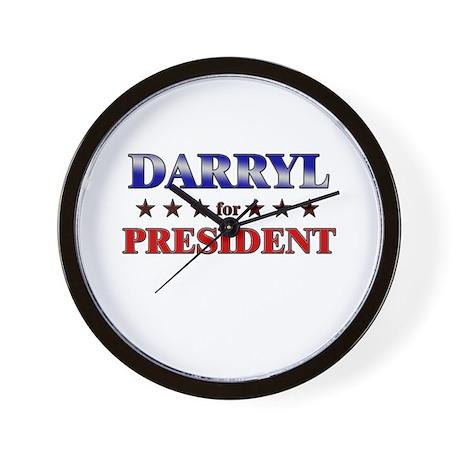 DARRYL for president Wall Clock
