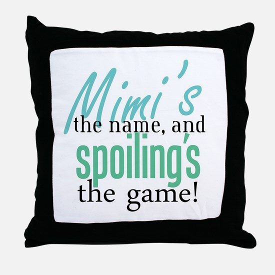 Mimi's the Name! Throw Pillow