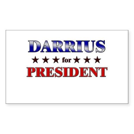 DARRIUS for president Rectangle Sticker