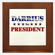 DARRIUS for president Framed Tile