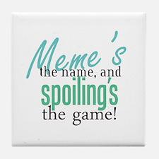Meme's the Name! Tile Coaster