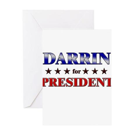 DARRIN for president Greeting Card