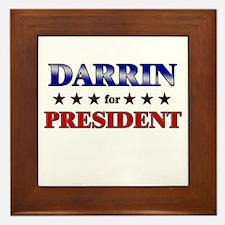 DARRIN for president Framed Tile