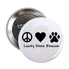 """Peace Love & Paw 2.25"""" Button"""