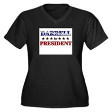 DARRELL for president Women's Plus Size V-Neck Dar