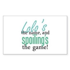 Lolo's the Name! Rectangle Decal