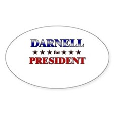 DARNELL for president Oval Decal