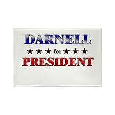 DARNELL for president Rectangle Magnet