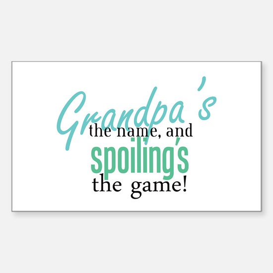 Grandpa's the Name! Rectangle Decal
