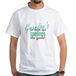 Grandpa's the Name! White T-Shirt