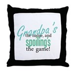 Grandpa's the Name! Throw Pillow