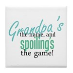 Grandpa's the Name! Tile Coaster