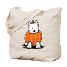 Punkin' Westie Tote Bag