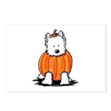 Punkin' Westie Postcards (Package of 8)