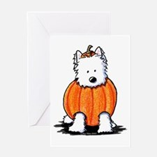 Punkin' Westie Greeting Card
